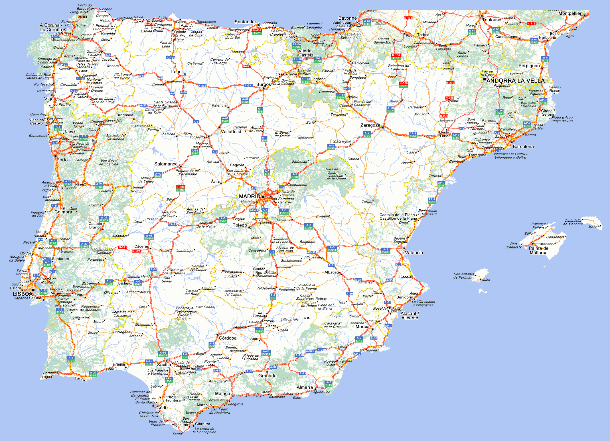 map of portugal cities with Mapa De Carreteras De Espana Y Portugal M112 on Showpicture besides Japonya Haritasi moreover Uruguay furthermore Leixoes Portugal together with Faro Olhao Portugal.